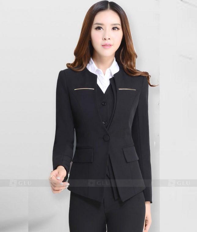 Ao Vest Dong Phuc Cong So GLU 243 áo sơ mi nữ đồng phục công sở