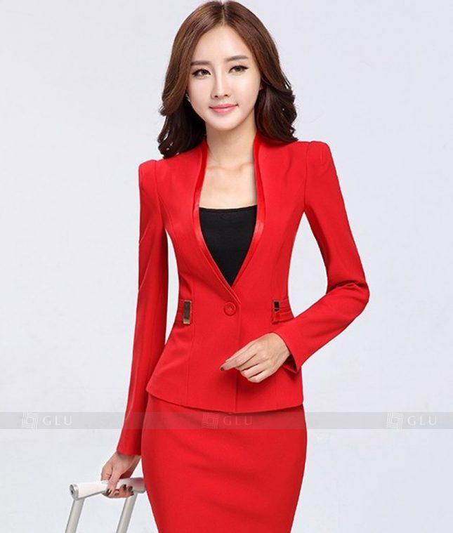Ao Vest Dong Phuc Cong So GLU 244 áo sơ mi nữ đồng phục công sở