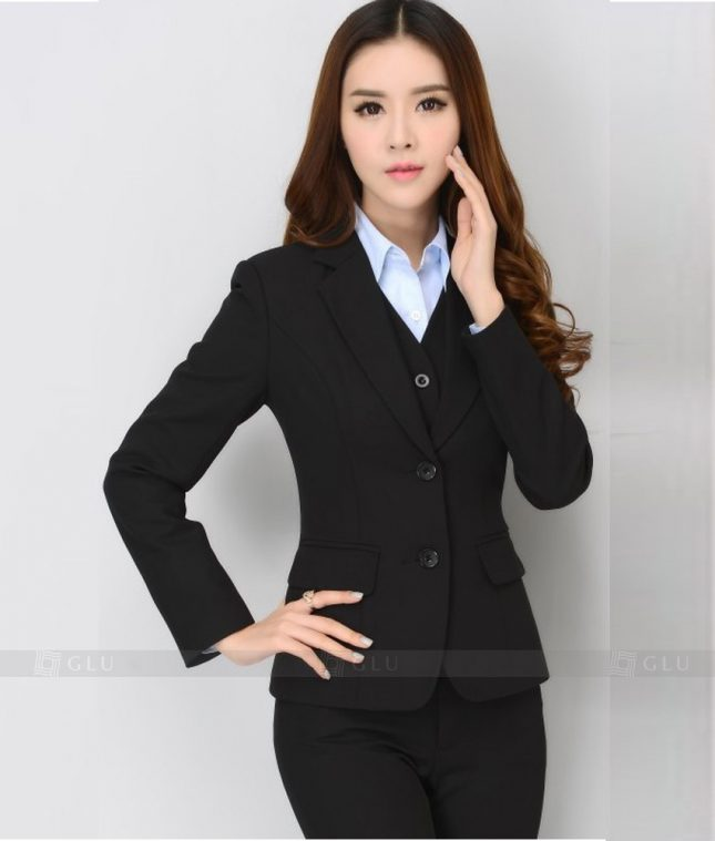 Ao Vest Dong Phuc Cong So GLU 246 áo sơ mi nữ đồng phục công sở