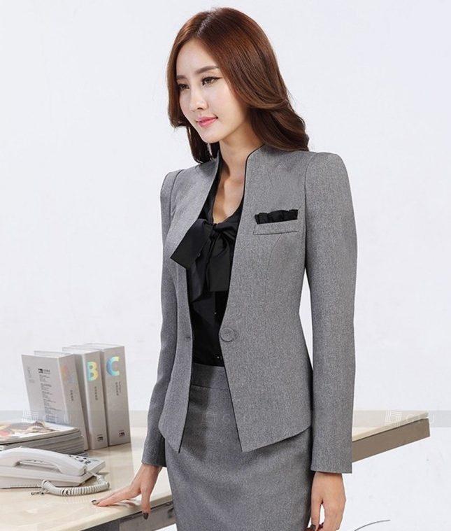 Ao Vest Dong Phuc Cong So GLU 247 áo sơ mi nữ đồng phục công sở