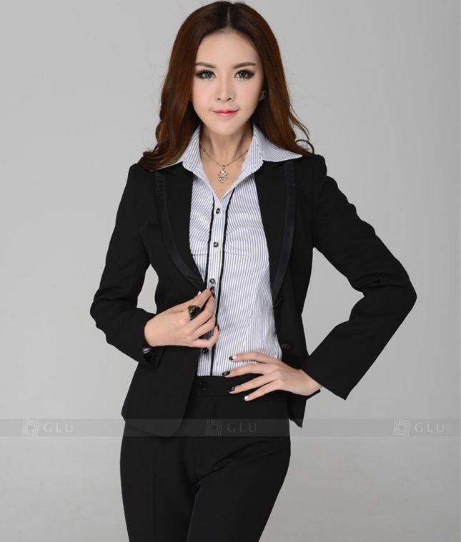 Ao Vest Dong Phuc Cong So GLU 256 áo sơ mi nữ đồng phục công sở