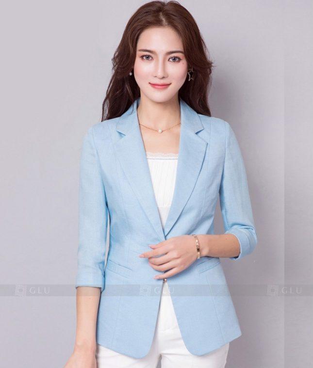 Ao Vest Dong Phuc Cong So GLU 257 áo sơ mi nữ đồng phục công sở