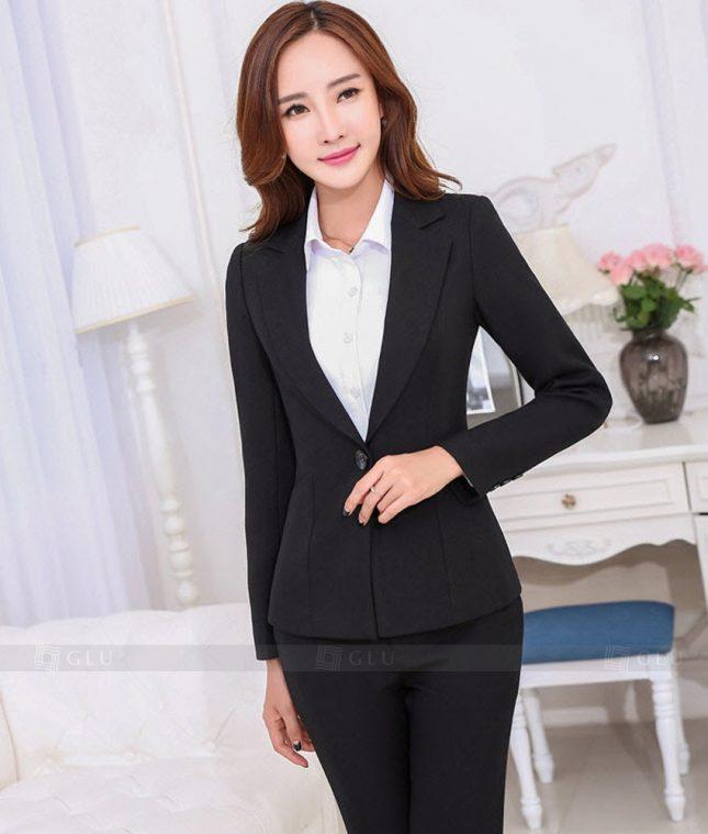 Ao Vest Dong Phuc Cong So GLU 258 áo sơ mi nữ đồng phục công sở