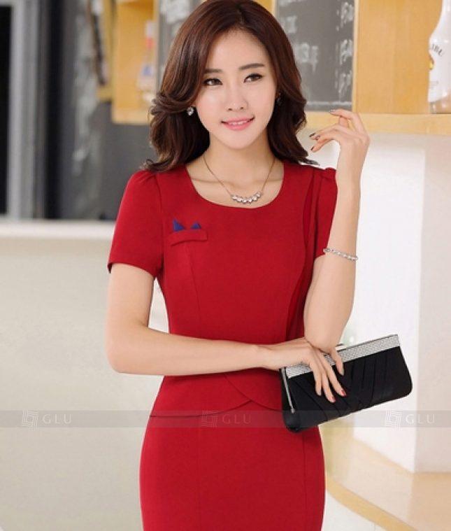 Ao Vest Dong Phuc Cong So GLU 261 áo sơ mi nữ đồng phục công sở