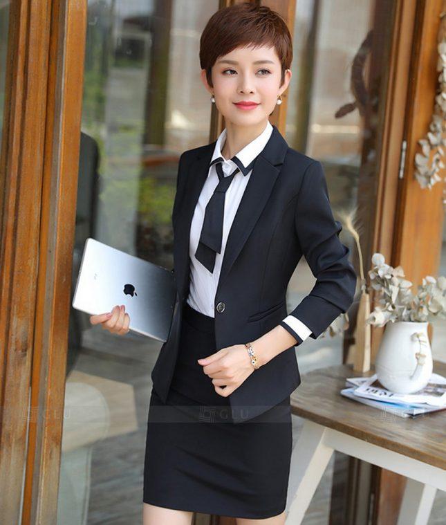 Ao Vest Dong Phuc Cong So GLU 262 áo sơ mi nữ đồng phục công sở