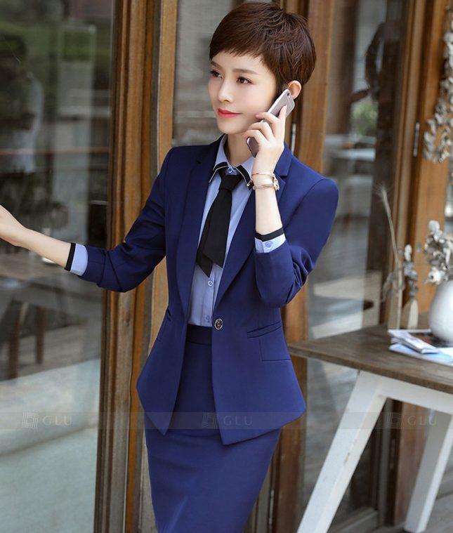 Ao Vest Dong Phuc Cong So GLU 263 áo sơ mi nữ đồng phục công sở