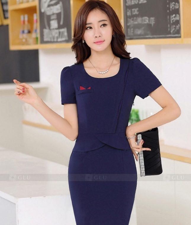 Ao Vest Dong Phuc Cong So GLU 265 áo sơ mi nữ đồng phục công sở