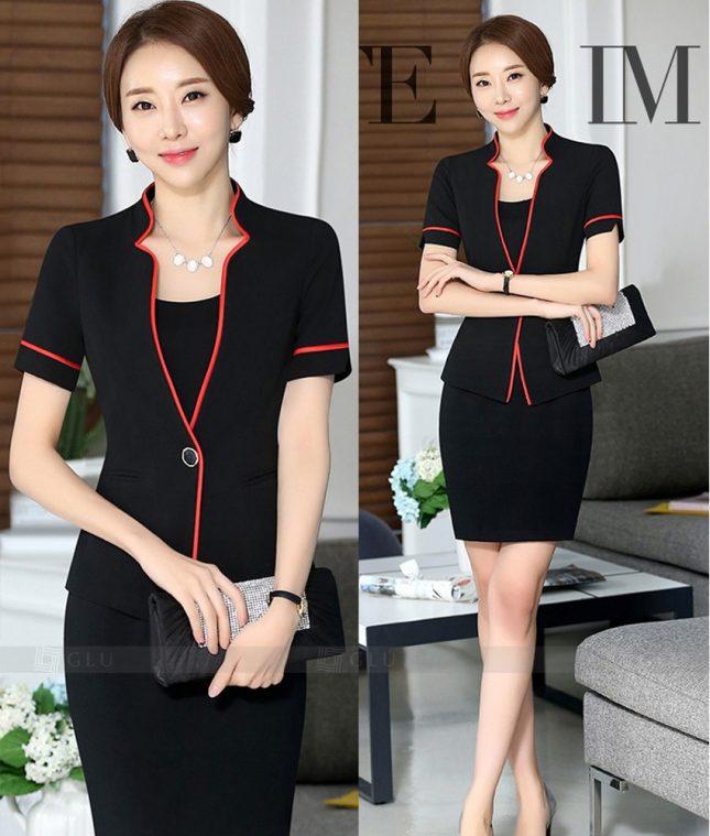 Ao Vest Dong Phuc Cong So GLU 266 áo sơ mi nữ đồng phục công sở