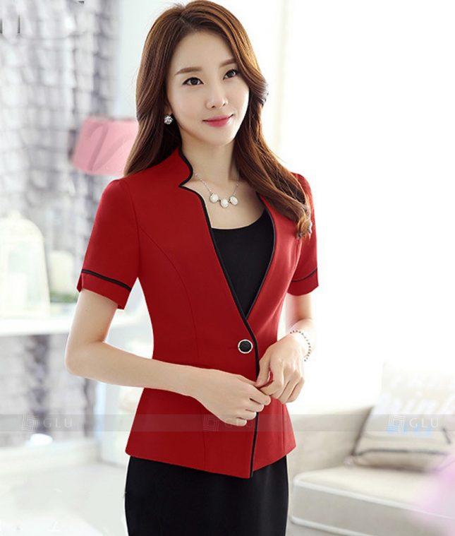 Ao Vest Dong Phuc Cong So GLU 267 áo sơ mi nữ đồng phục công sở