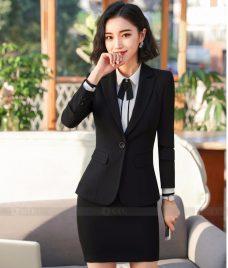 Ao Vest Dong Phuc Cong So GLU 268 Đồng Phục Công Sở