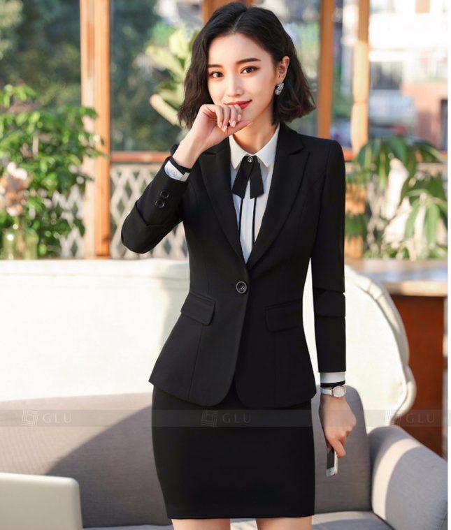 Ao Vest Dong Phuc Cong So GLU 268 áo sơ mi nữ đồng phục công sở