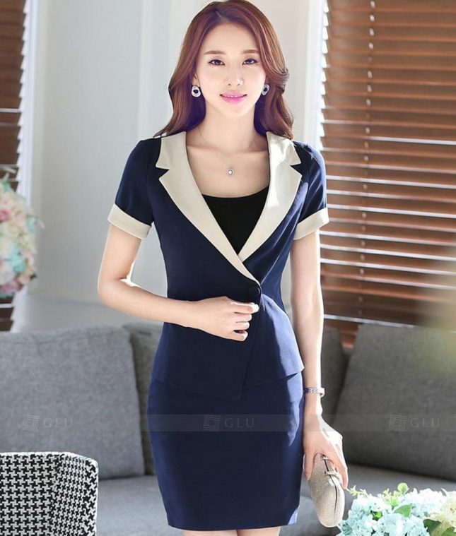 Ao Vest Dong Phuc Cong So GLU 270 áo sơ mi nữ đồng phục công sở