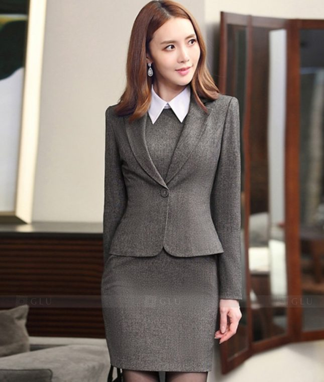Ao Vest Dong Phuc Cong So GLU 272 áo sơ mi nữ đồng phục công sở
