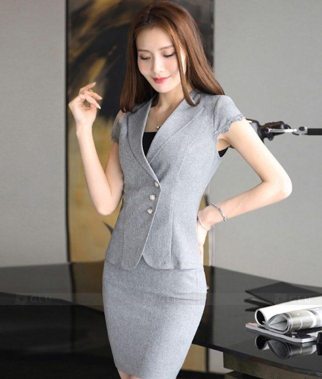 Ao Vest Dong Phuc Cong So GLU 273 áo sơ mi nữ đồng phục công sở