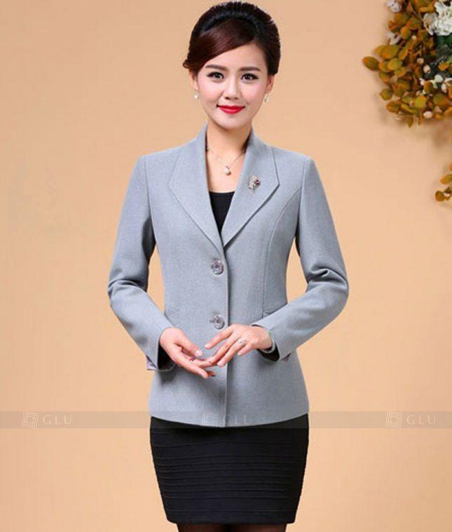 Ao Vest Dong Phuc Cong So GLU 274 áo sơ mi nữ đồng phục công sở