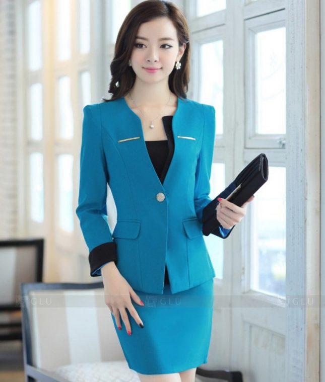 Ao Vest Dong Phuc Cong So GLU 275 áo sơ mi nữ đồng phục công sở
