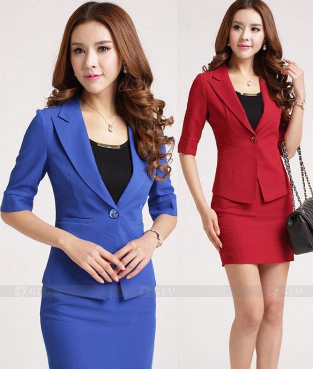 Ao Vest Dong Phuc Cong So GLU 278 áo sơ mi nữ đồng phục công sở