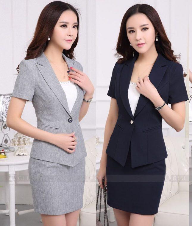 Ao Vest Dong Phuc Cong So GLU 281 áo sơ mi nữ đồng phục công sở