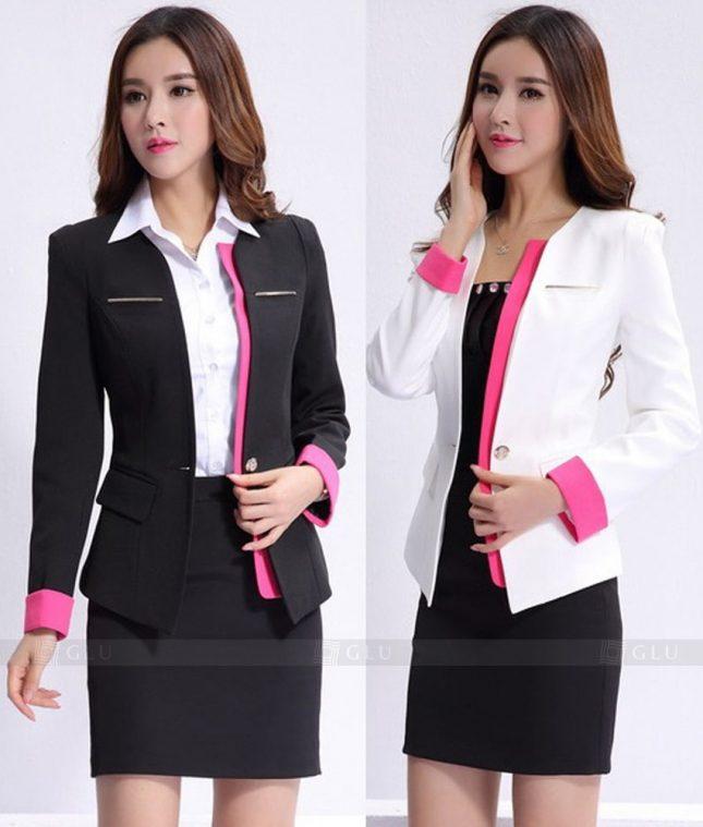 Ao Vest Dong Phuc Cong So GLU 282 áo sơ mi nữ đồng phục công sở