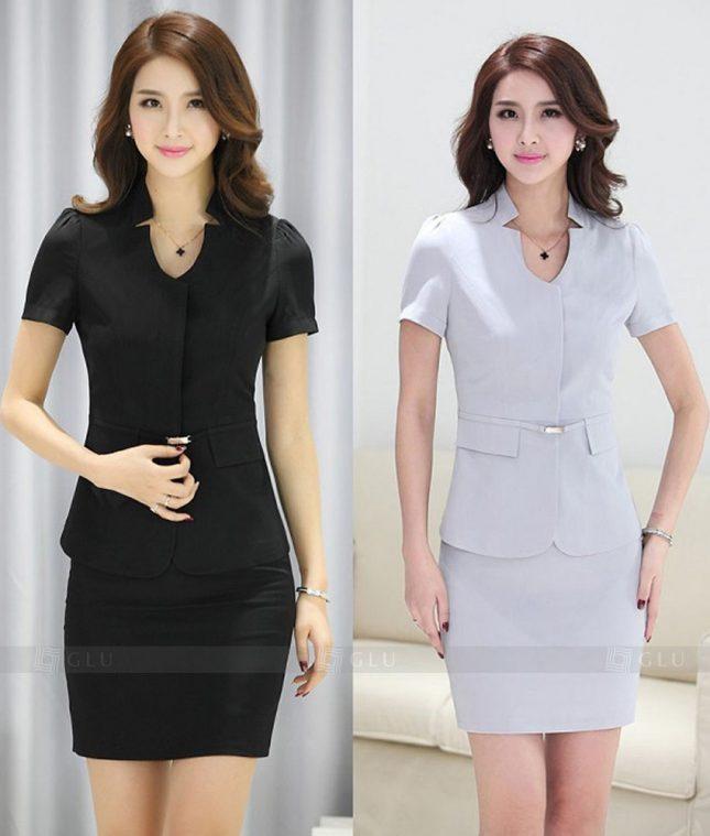 Ao Vest Dong Phuc Cong So GLU 283 áo sơ mi nữ đồng phục công sở