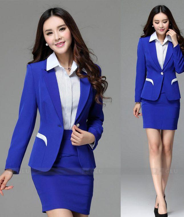 Ao Vest Dong Phuc Cong So GLU 284 áo sơ mi nữ đồng phục công sở