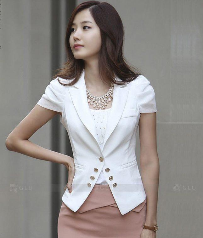 Ao Vest Dong Phuc Cong So GLU 285 áo sơ mi nữ đồng phục công sở
