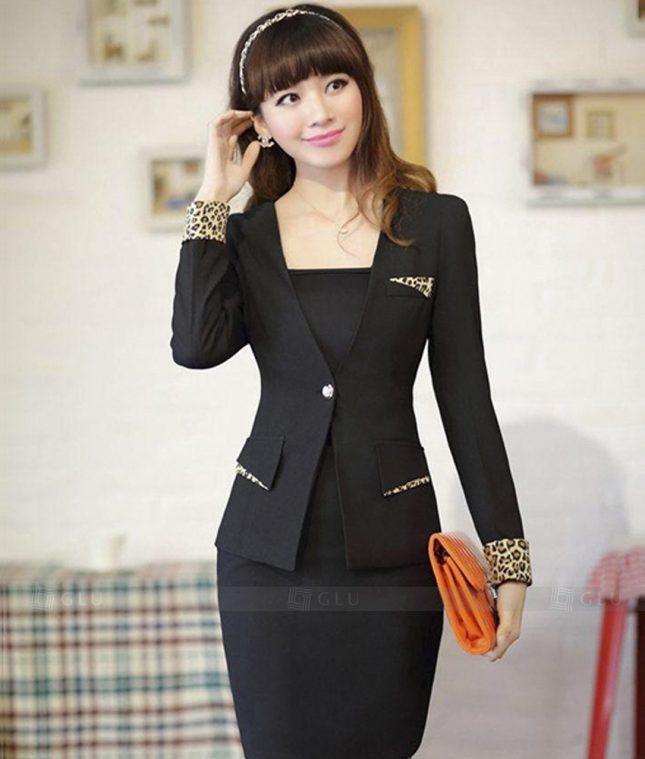 Ao Vest Dong Phuc Cong So GLU 286 áo sơ mi nữ đồng phục công sở