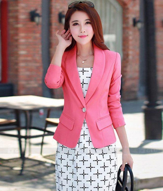 Ao Vest Dong Phuc Cong So GLU 287 áo sơ mi nữ đồng phục công sở