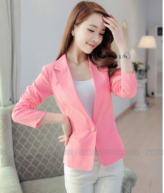 Ao Vest Dong Phuc Cong So GLU 288 áo sơ mi nữ đồng phục công sở