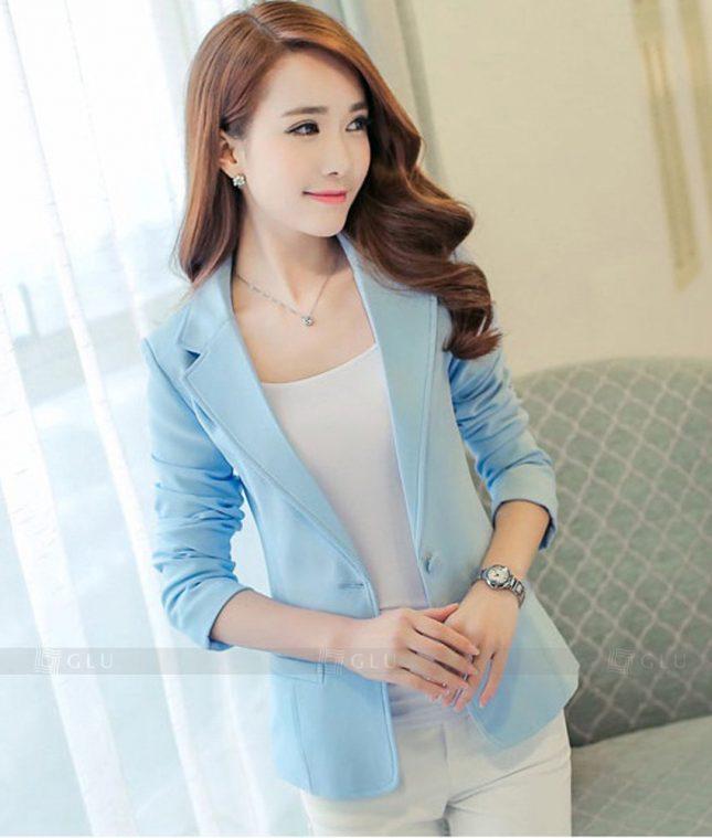 Ao Vest Dong Phuc Cong So GLU 289 áo sơ mi nữ đồng phục công sở
