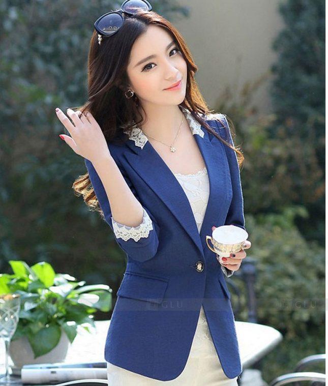 Ao Vest Dong Phuc Cong So GLU 290 áo sơ mi nữ đồng phục công sở