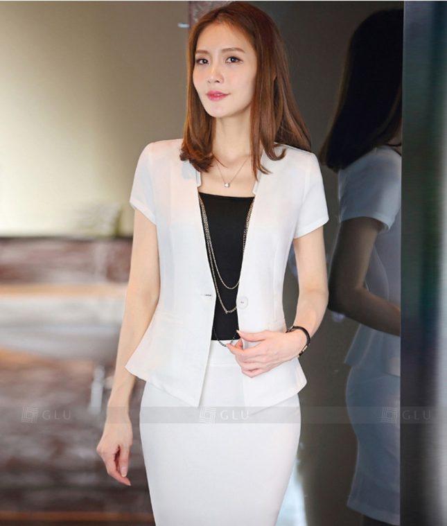 Ao Vest Dong Phuc Cong So GLU 297 áo sơ mi nữ đồng phục công sở