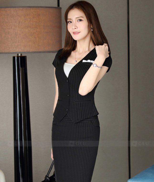 Ao Vest Dong Phuc Cong So GLU 301 áo sơ mi nữ đồng phục công sở