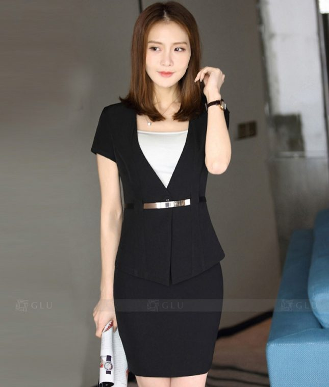 Ao Vest Dong Phuc Cong So GLU 304 áo sơ mi nữ đồng phục công sở