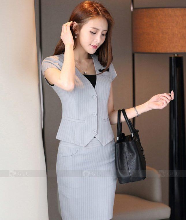 Ao Vest Dong Phuc Cong So GLU 307 áo sơ mi nữ đồng phục công sở