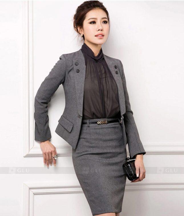 Ao Vest Dong Phuc Cong So GLU 308 áo sơ mi nữ đồng phục công sở
