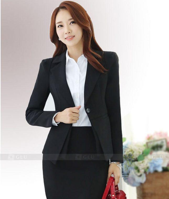 Ao Vest Dong Phuc Cong So GLU 309 áo sơ mi nữ đồng phục công sở