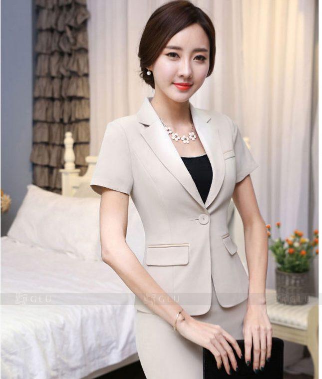 Ao Vest Dong Phuc Cong So GLU 310 áo sơ mi nữ đồng phục công sở