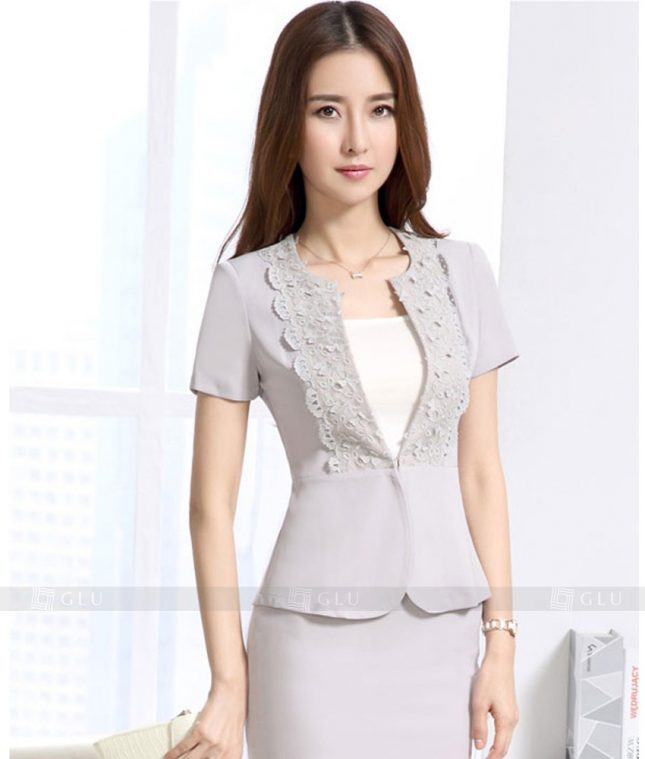 Ao Vest Dong Phuc Cong So GLU 313 áo sơ mi nữ đồng phục công sở