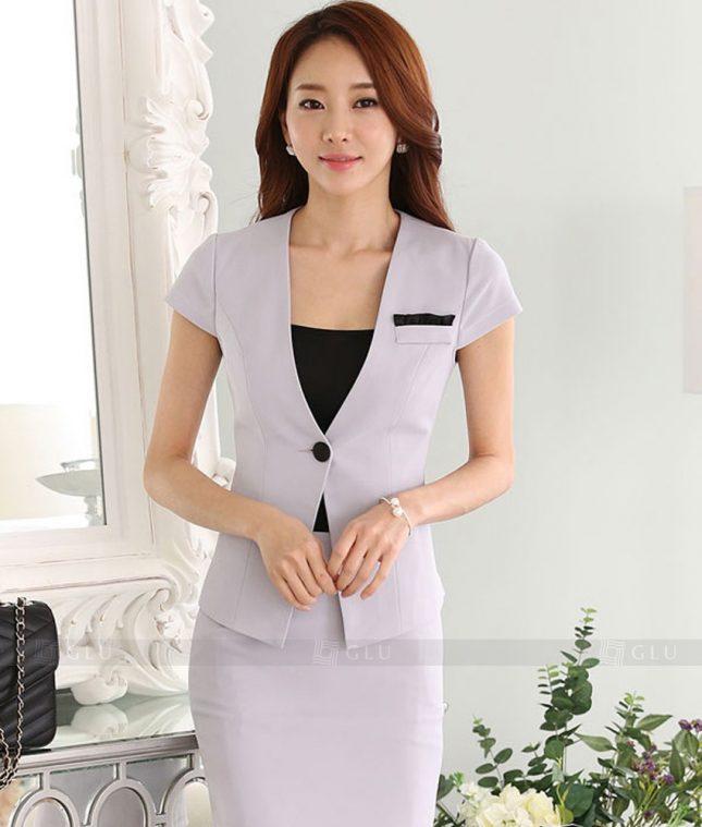 Ao Vest Dong Phuc Cong So GLU 314 áo sơ mi nữ đồng phục công sở
