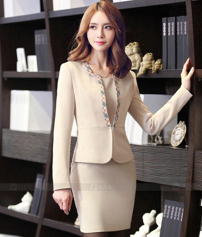 Ao Vest Dong Phuc Cong So GLU 315 áo sơ mi nữ đồng phục công sở