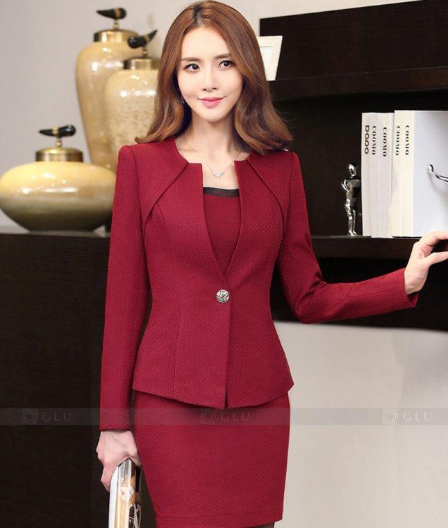 Ao Vest Dong Phuc Cong So GLU 316 áo sơ mi nữ đồng phục công sở