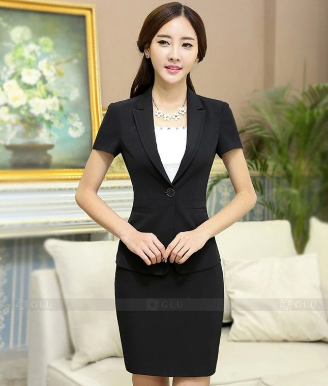 Ao Vest Dong Phuc Cong So GLU 318 áo sơ mi nữ đồng phục công sở
