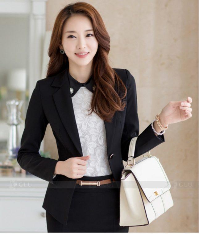 Ao Vest Dong Phuc Cong So GLU 320 áo sơ mi nữ đồng phục công sở