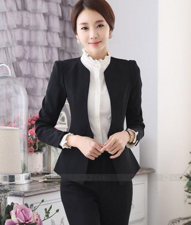 Ao Vest Dong Phuc Cong So GLU 321 áo sơ mi nữ đồng phục công sở