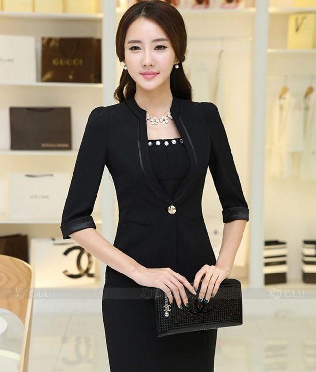 Ao Vest Dong Phuc Cong So GLU 322 áo sơ mi nữ đồng phục công sở