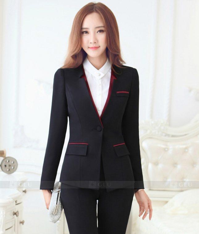 Ao Vest Dong Phuc Cong So GLU 323 áo sơ mi nữ đồng phục công sở
