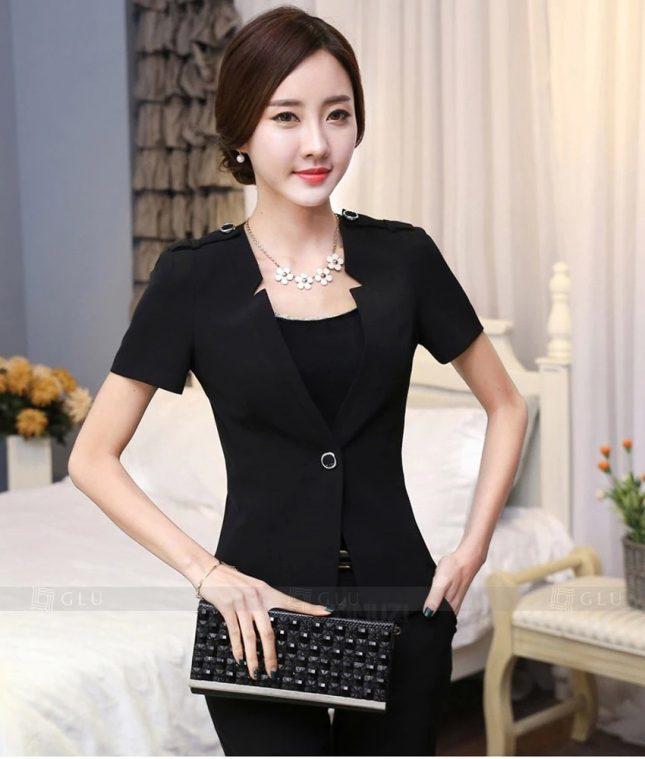 Ao Vest Dong Phuc Cong So GLU 324 áo sơ mi nữ đồng phục công sở