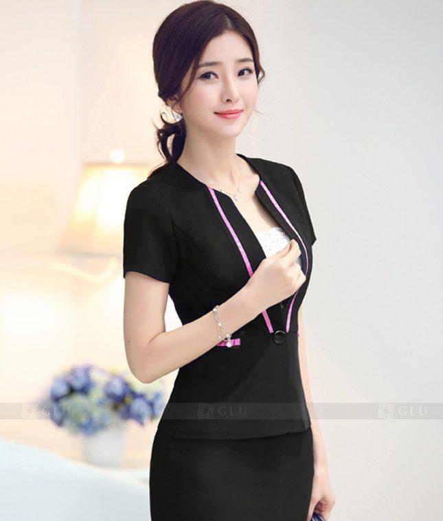Ao Vest Dong Phuc Cong So GLU 325 áo sơ mi nữ đồng phục công sở