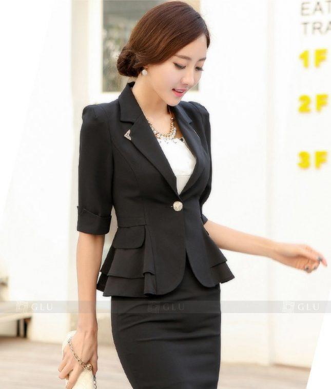 Ao Vest Dong Phuc Cong So GLU 327 áo sơ mi nữ đồng phục công sở